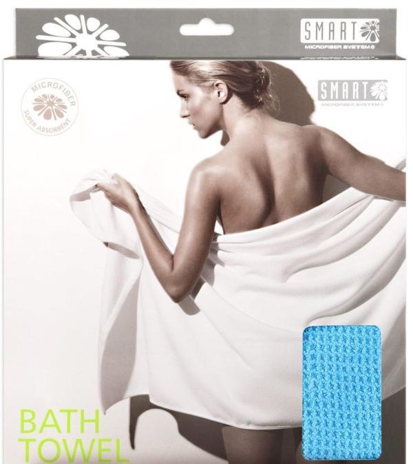 Smart Microfiber Полотенце банное вафельное 80 х 150 см голубое