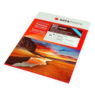 Фотобумага Agfa - А4 матовая двухсторонняя, плотность 220 г/кв.м, 20 листов
