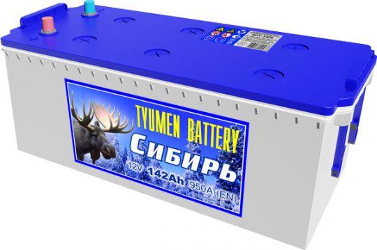 Автомобильный аккумулятор АКБ Тюмень (TYUMEN BATTERY) СИБИРЬ 6CT-142L 142Aч П.П.