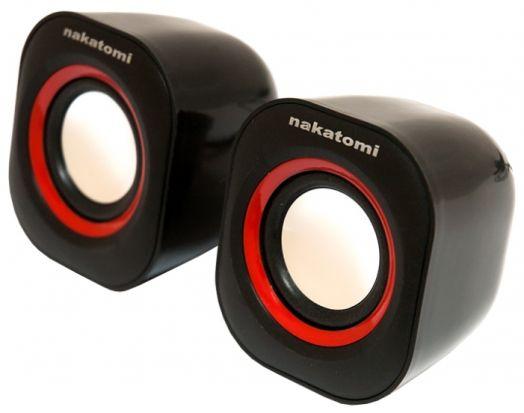 Мультимедийные колонки 2.0 Dialog BC-05UP BLACK Nakatomi 6W RMS -  2.0, черные, питание от USB