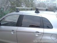 Багажник на крышу Mitsubishi ASX, без рейлингов, со штатными местами, Атлант, аэродинамические дуги