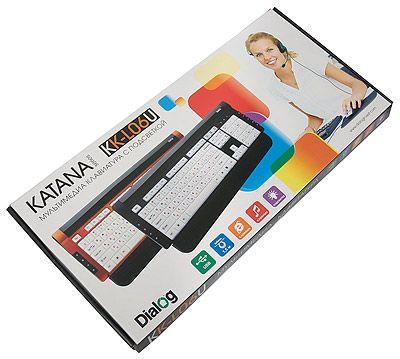Клавиатура Dialog Katana с подсветкой клавиш KK-L06U White