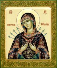 Семистрельная икона Божией Матери (рукописная)