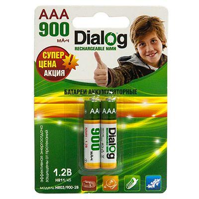 Аккумулятор Dialog NiMH AAA 900 мА*ч, 2шт. в блистере HR03/900-2B