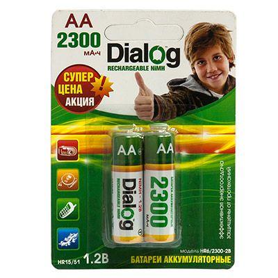 Аккумулятор Dialog NiMH AA 2300 мА*ч, 2шт. в блистере HR6/2300-2B