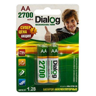 Аккумулятор Dialog NiMH AA 2700 мА*ч, 2шт. в блистере HR6/2700-2B