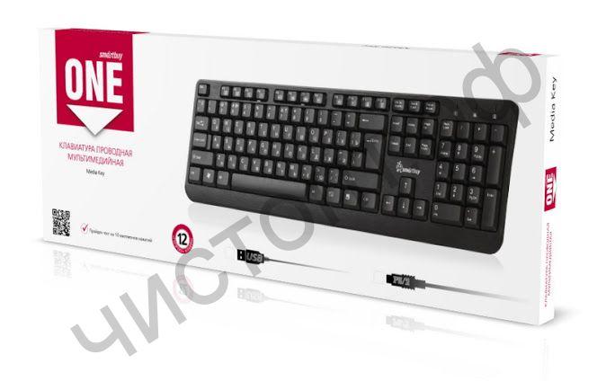 Клавиатура провод. Smartbuy ONE 112 USB черная (SBK-112U-K)