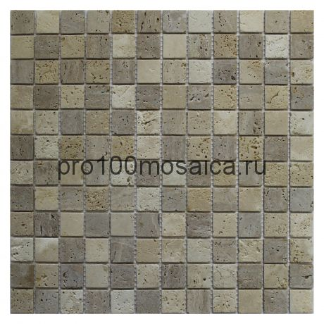 Travertine Mix Tum. 4 мм.. Мозаика серия STONE,  размер, мм: 305*305 (ORRO Mosaic)