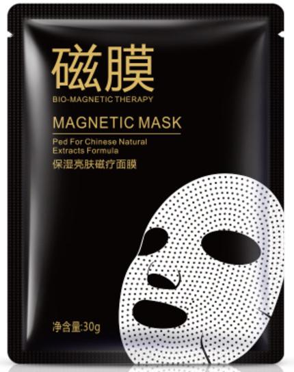 Тканевая маска с магнитами с экстрактом розы Bio-magnetic mask Bioaqua