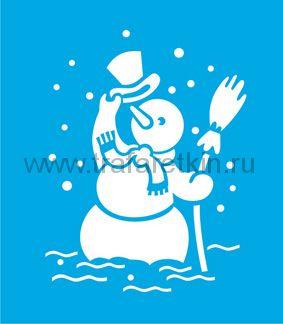"""Наклейка """"Веселый снеговик"""""""