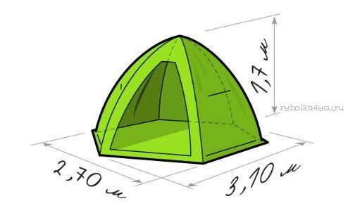 Купить Палатка зимняя Лотос 4