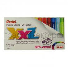 Пастель масл.12цв.Pentel  XXL GHT-12