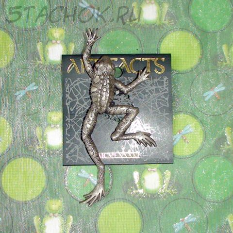 """Брошь """"Шагающая жаба"""" под олово"""