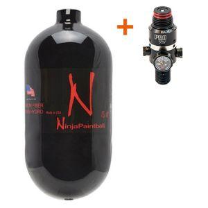 Баллон Ninja Black 90ci (1,5л) + Регулятор Pro V2 4500 psi