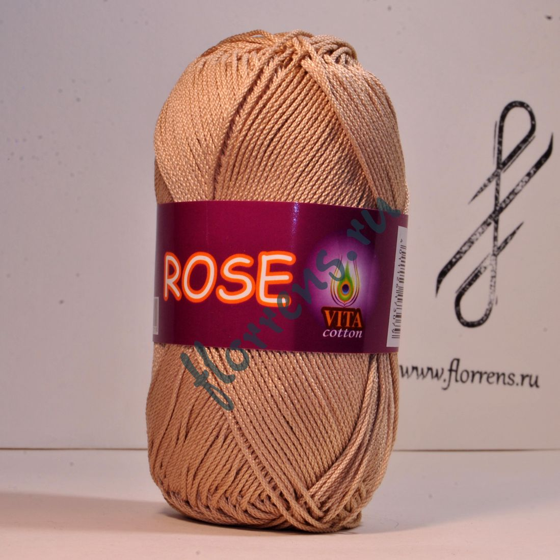 Пряжа Rose / 3943 бежевый