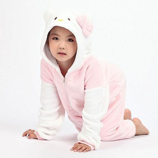 Пижама Кигуруми Детская Кошка Розовая_01