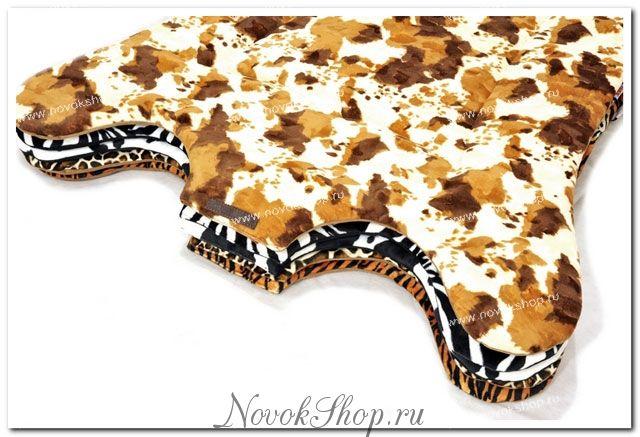 Мягкий коврик из меха далматин
