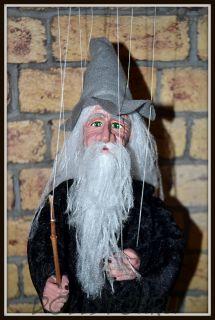 Чешская кукла-марионетка Колдун - Warlock (Чехия, Praha, Hand Made, авторы  Ивета и Павел Новотные)
