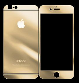 Закаленное противоударное цветное стекло для iPhone 6 (2 стороны)