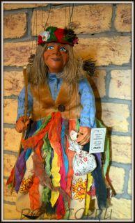 Чешская кукла-марионетка Баба-Яга - Baba Yaga (Чехия, Praha, Hand Made, авторы  Ивета и Павел Новотные)