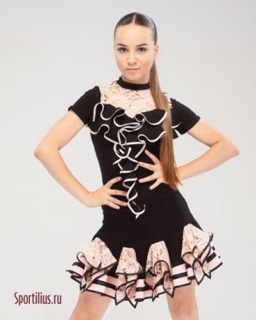 """Костюм для латины """"Суфле"""" в магазине для танцев Спортилиус"""