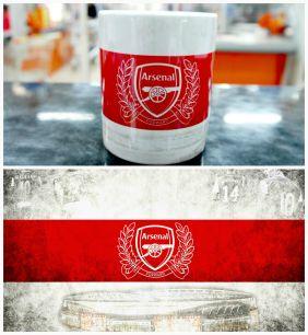 Кружка с логотипом футбольного клуба Арсенал