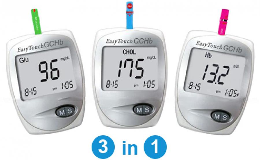 Прибор Изи Тач 3 в 1 Глюкоза, Холестерин, Гемоглобин