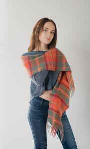 шотландский шарф 100% шерсть ягнёнка , расцветка шотландского городка Крифф  Crieff tartan ,плотность 6