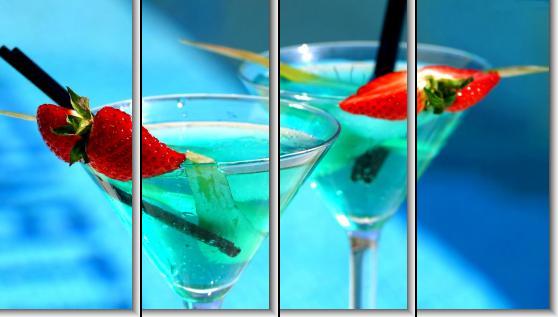 Модульная картина Два коктейля