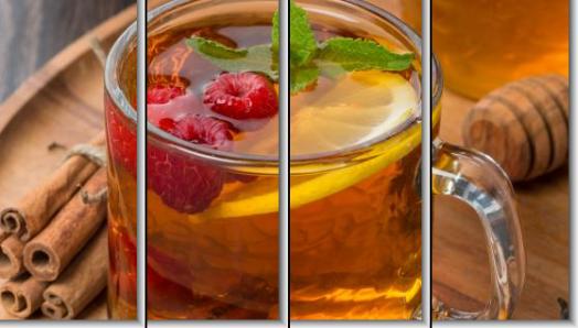 Модульная картина Чай с малиной