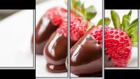 Модульная картина Клубника в шоколаде