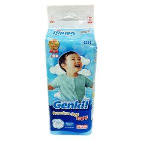[Новая коллекция сентябрь 2016] GENKI Подгузники для мальчиков и девочек Big (12-17 кг) 44шт