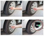 Колпачки на ниппель колеса, контролирующие давление в шинах