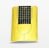 Формы для моделирования ногтей бумажные 25шт (золото,квадрат)