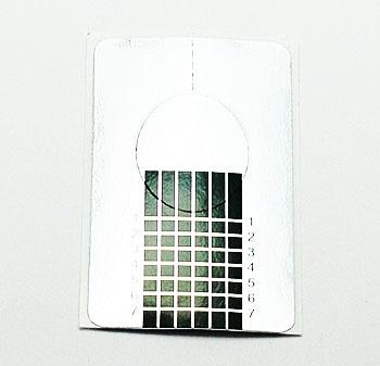 Формы для моделирования ногтей бумажные 25шт (серебро,квадрат)