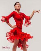 Красная юбка для латины в магазине одежды для бальных танцев