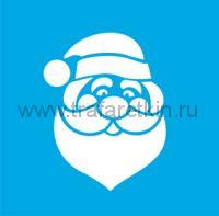 Трафарет - Веселый Дед Мороз.