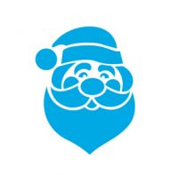 Веселый Дед Мороз из  пленки ПЭТ