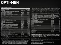 Optimum Nutrition Opti Men состав