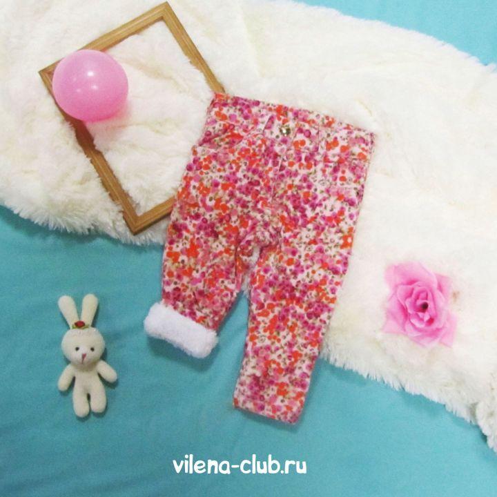 Вельветовые теплые  брюки