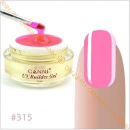 Моделирующий  гель-камуфляж Canni №315 Розовый UV Builder Gel Pink