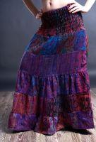 Тёплая длинная юбка в пол из акриловой шерсти на осень зиму, Москва