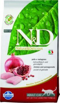 N&D Cat Chicken & Pomegranate Adult.( Курица+гранат беззерновой для взрослых кошек )