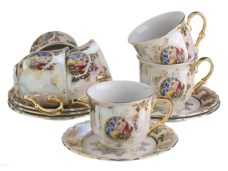 "Чайный набор на 6 персон ""Мадонна"", 12 пр."