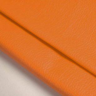 Кожзам для кукольных ботиночек - оранжевый, 25*20 см