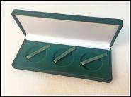 Коробка под 3 монеты в капсулах диаметром до 46 мм