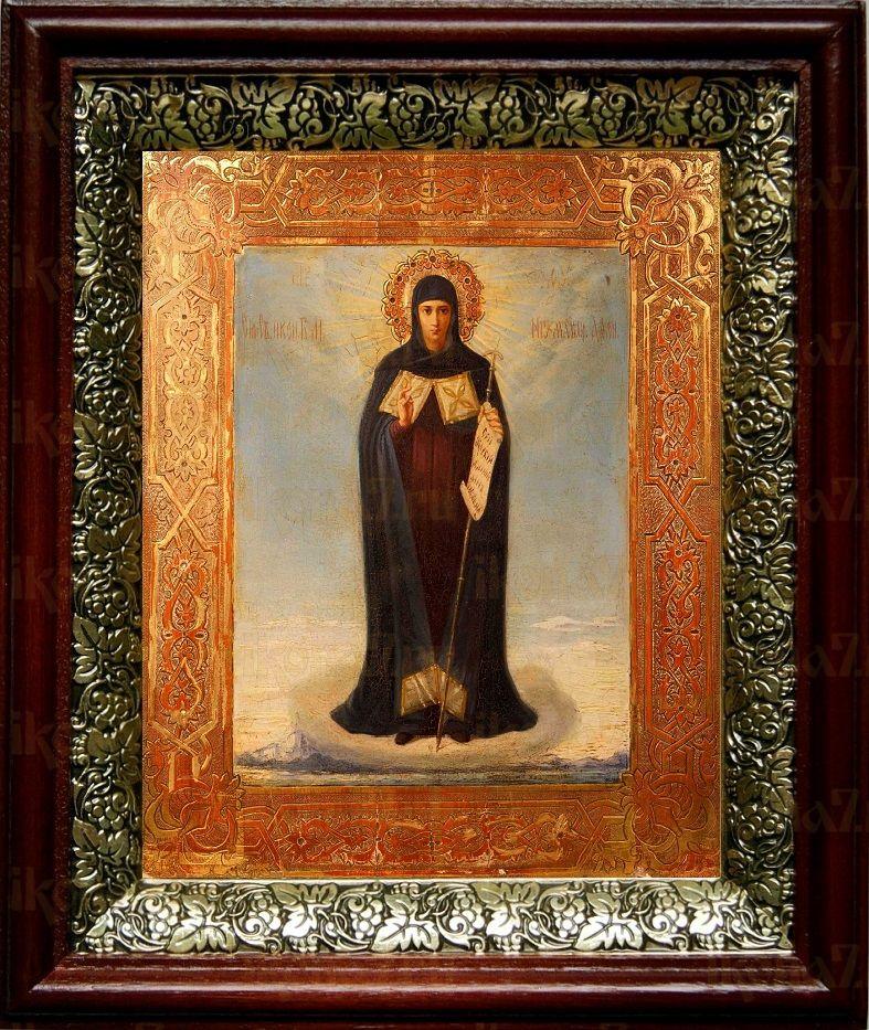 Афонская икона БМ (19х22), темный киот