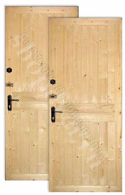 Металлические двери отделка вагонка