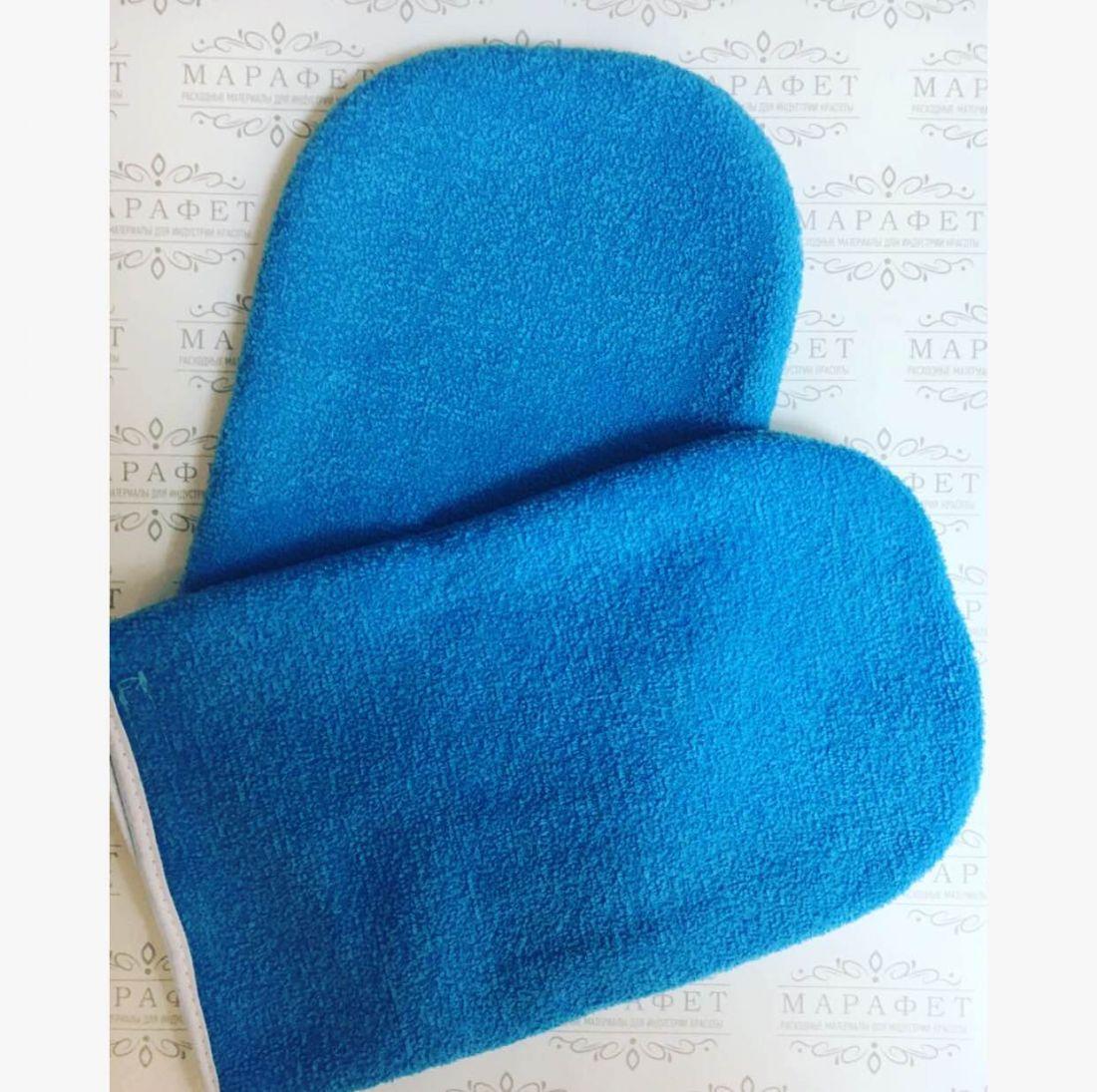 Термоварежки для парафинотерапии махровые (голубые, белые)