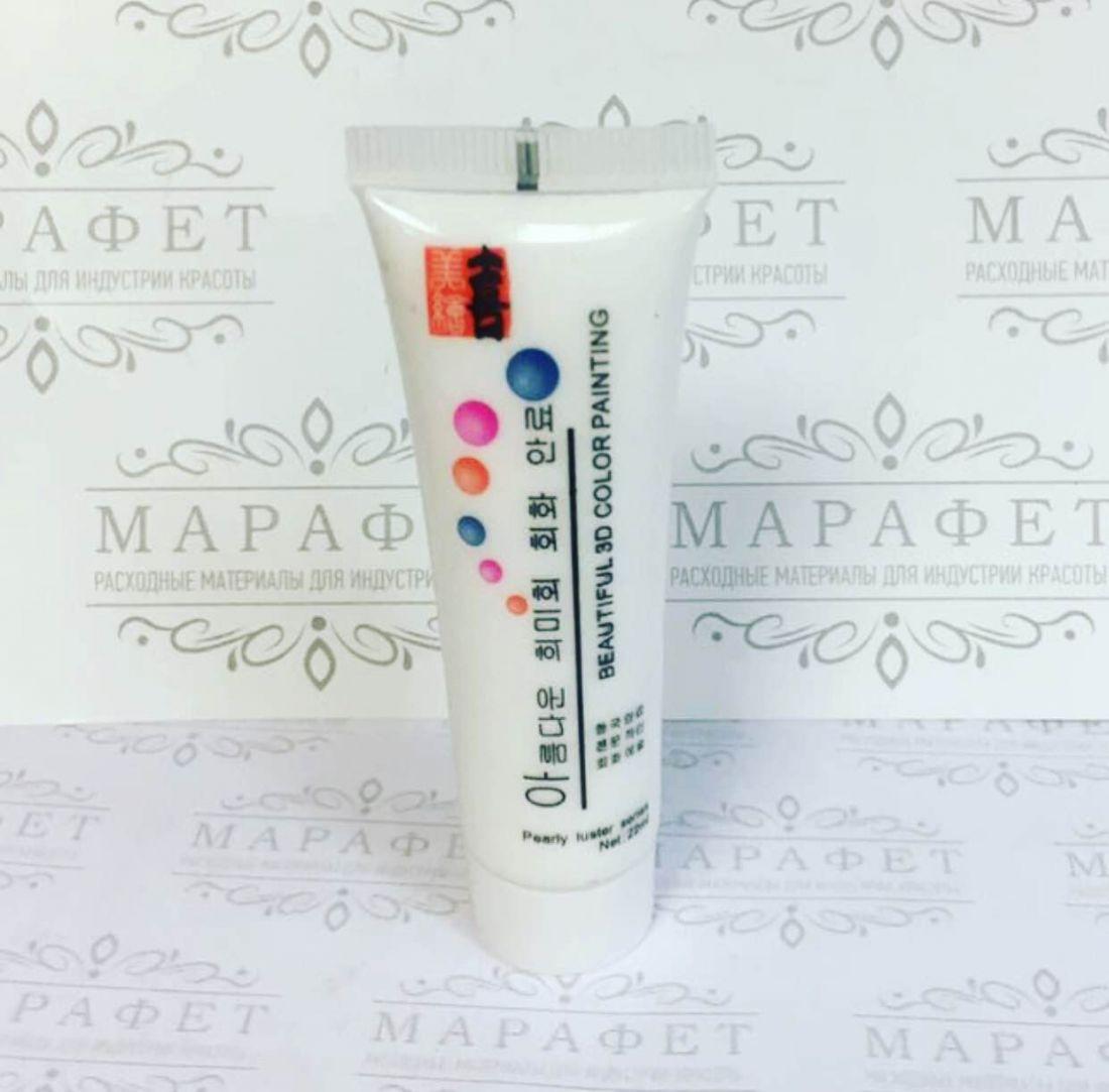 Краска акриловая на водной основе 22мл (белая)